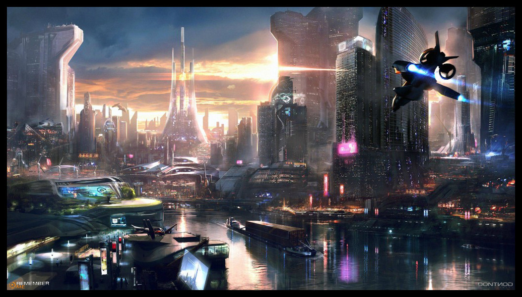 unflujodefotones:  REMEMBER ME - NEO PARIS 2084 concept art by jamga