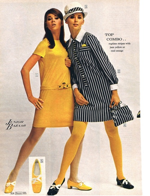 Junior Bazaar fashions from Sears, 1968.