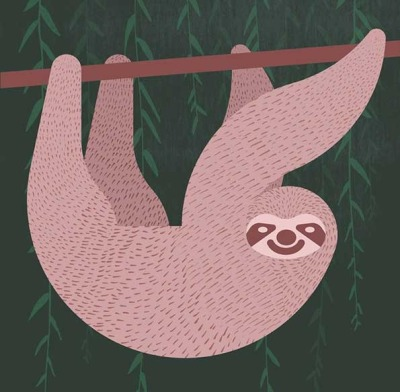 sloth illustration by Alan Dalby (via It's Nice That)