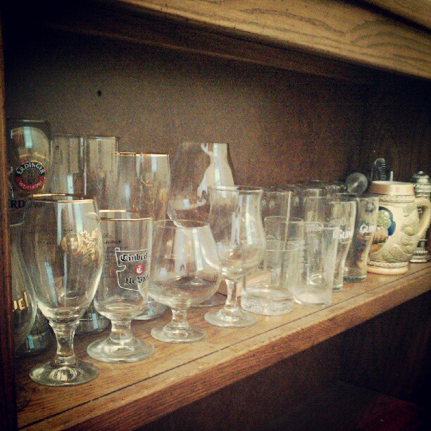 Organized my glasses for our home bar…