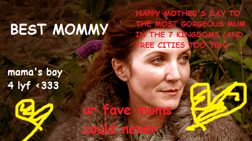 robbstark:  i made u something mum