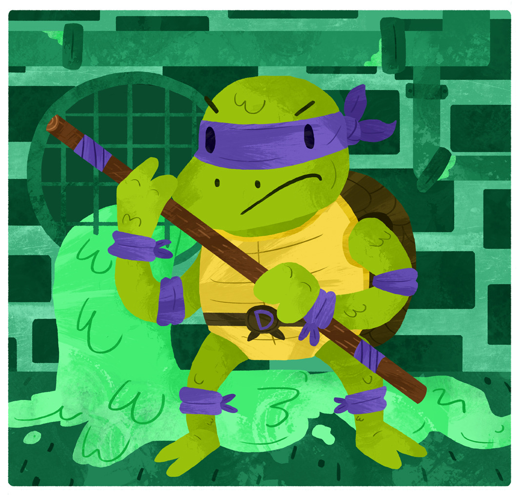 tylerdraws:  Donatello does machines (That's a fact, Jack!)