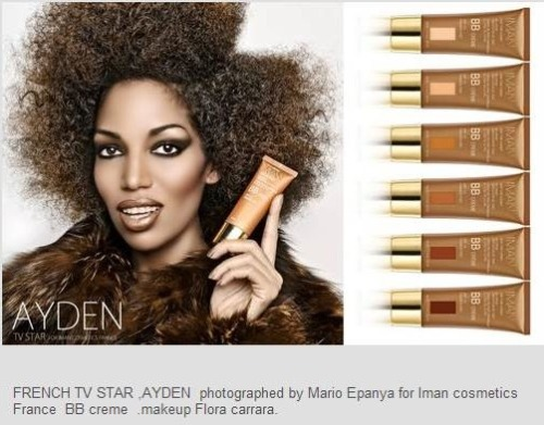 French TV Star Ayden rocking her IMAN BB Crème! #IMANbb  Photo Credit: Mario Epanya  Makeup: Flora Carrara  -IMAN Beauty Girl