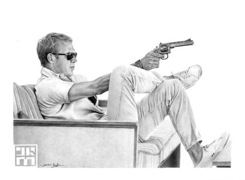 Steve McQueen illustration by James Mylne