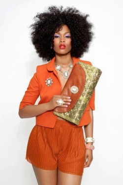 afro-deity:  Amazing natural coif (and the clutch is divine)