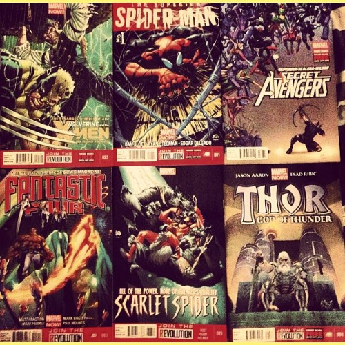 #NewComics #Marvel #Comics! #Wolverine&the#XMen; #FantasticFour; #SuperiorSpiderMan; #ScarletSpider; #Secret#Avengers; #Thor … #SpiderMan #Spider_man #FF #MakeMineMarvel #Nerd #Geek