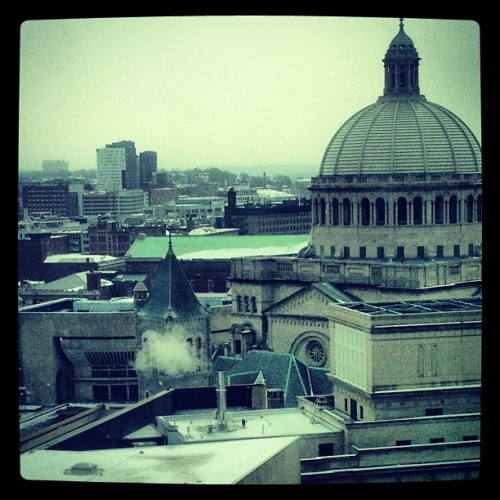 4Player hotel view.  (at Sheraton Boston Hotel)
