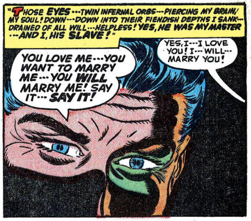 (via Pappy's Golden Age Comics Blogzine: Number 1315: Romance in a trance).
