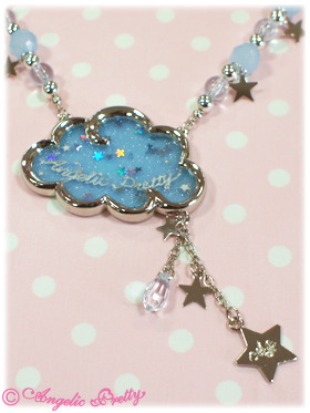 lolitahime:  Angelic Pretty's Misty Sky Necklace  My inner princess is demanding this.  (((o(*゚▽゚*)o)))