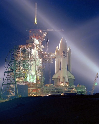crookedindifference:  The First Shuttle Launch (STS-1), 1981