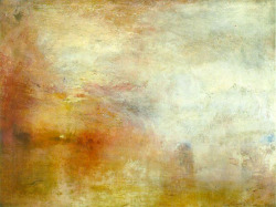 masterpiecedaily:  Joseph Mallord William Turner Sun Setting Over a Lake 1840