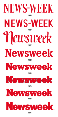 lauraolin:  The evolution of the Newsweek logo.