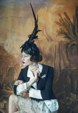 timeless-couture:  De Evige Muser Julie Rode photographed by Signe Vilstrup for Elle Denmark May 2013