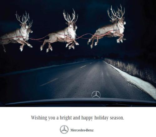 thisismad:  Mercedes Holiday Card. BBDO Toronto.CD: Linda CarteAD & CW: Spencer Dingle & Jordan Hamer