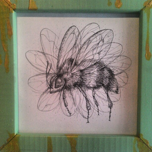 #bee #spring #illustration #art #Gallery #Savannah #bug #drawing