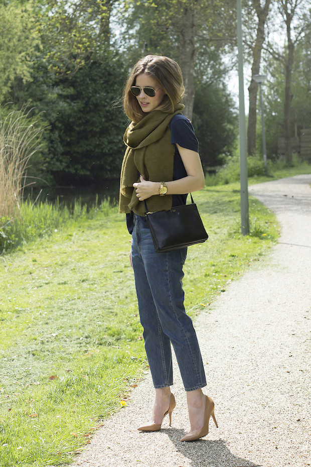lookbookdotnu:  The green scarf (by Christine R.)