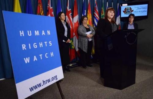 Human Rights Watch Details Alleged Abuse, Rape, of Aboriginal Women by RCMP Officers in British Columbia Explosive allegations of gang rape, widespread abuse and anti-Native racism have rocked Canada's national police force, the Royal Canadian Mounted Police (RCMP), which vowed on February 13 to investigate the claims by one of the world's leading rights groups.