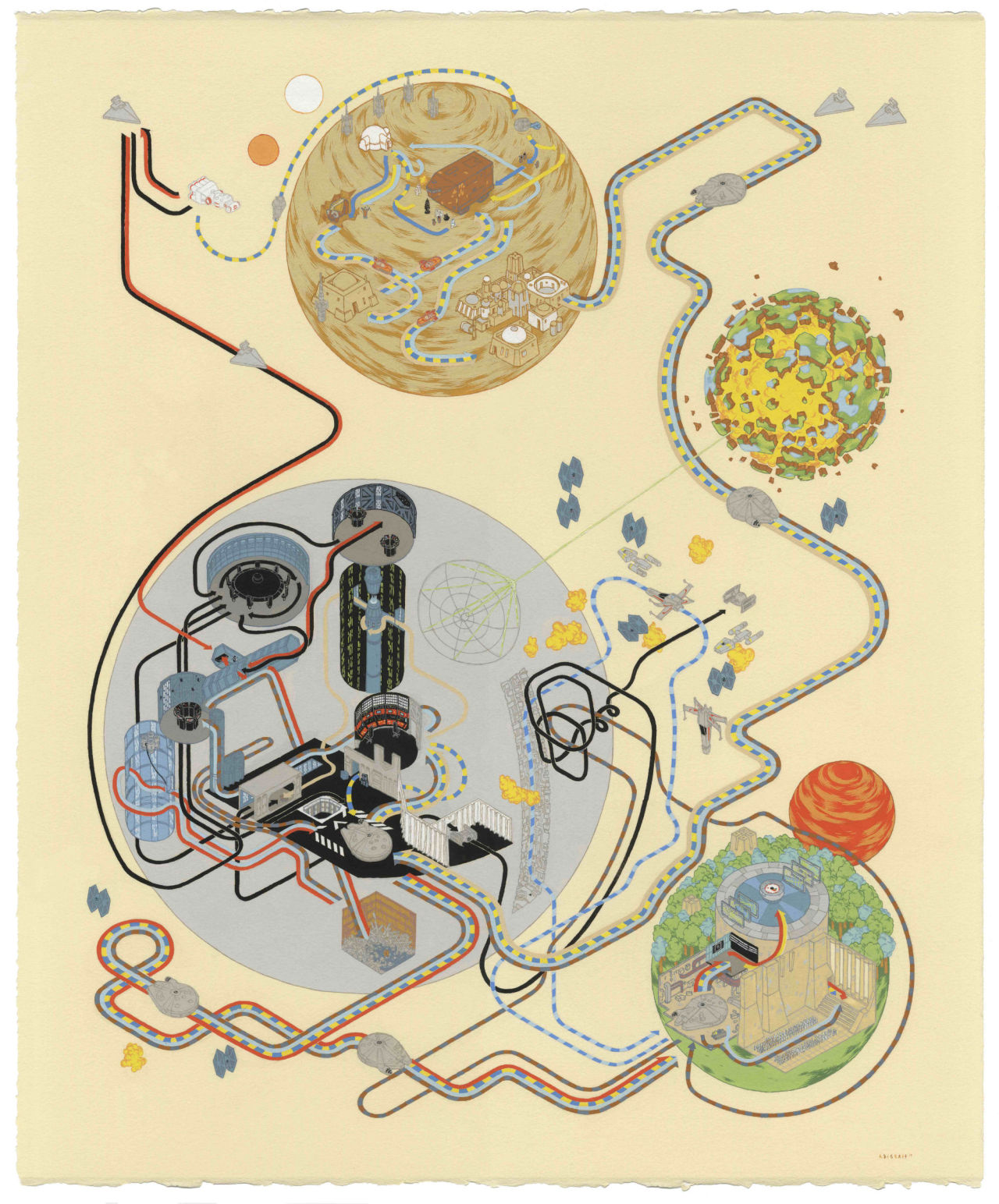 Star Wars Cartography: From Tatooine to the Death Star by Andrew DeGraff