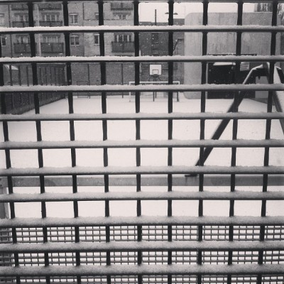 All White Everything outside SoulCulture HQ #snowday #shoreditch #london #life  (at SoulCulture HQ)