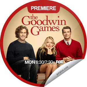 I just unlocked the The Goodwin Games Premiere sticker on GetGlue                      1652 others have also unlocked the The Goodwin Games Premiere sticker on GetGlue.com                  In the series premiere of this sitcom, three heirs discover they stand to make millions if they can adhere to their late father's will, which specifies that they complete a series of unusual challenges and learn to act as a loving family again. Share this one proudly. It's from our friends at FOX.