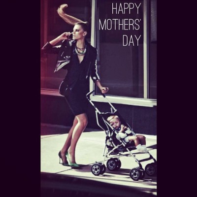 If you gotta do it, it never hurts to make it look good! Happy Mommy Day!