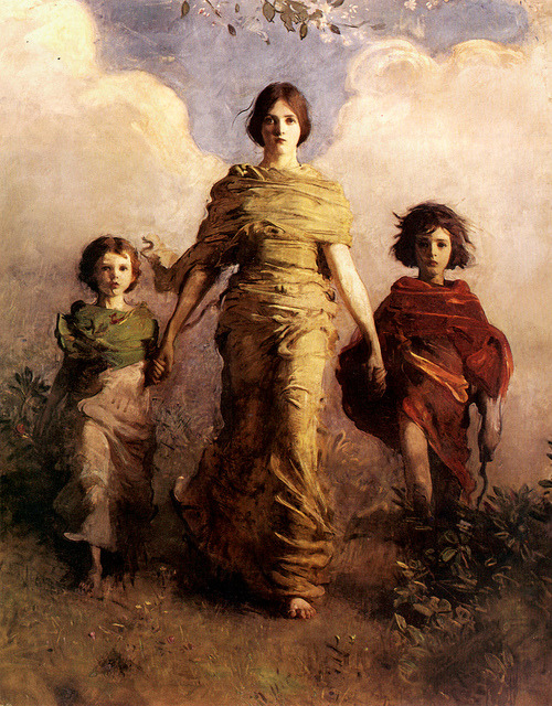 "tierradentro:  ""A Virgin"", 1892-93, Abbott Handerson Thayer. (via)"