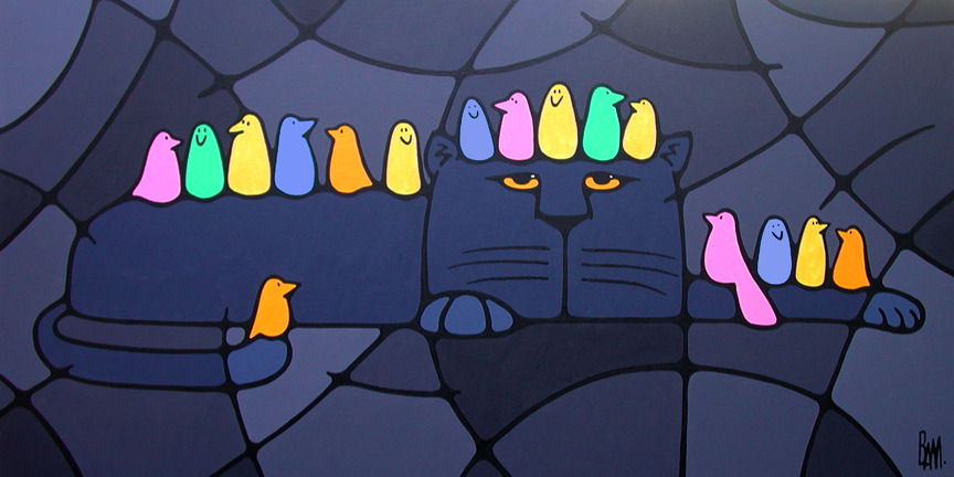 "Tolerance - 48"" x 24"" acrylic on canvas - SOLD"