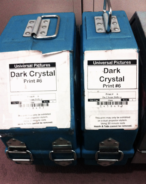 thecinematheque:  THE DARK CRYSTAL just showed up at our office on 35mm!  Screening on Sunday, May 19- 1pm @ The Cinematheque - ALL AGES WELCOME! With an introduction from our Education Department, and a puppetry demonstration by Lost & Found Puppet Co., this is one you won't want to miss.Special Pricing: $6 kids / $9 adultshttp://thecinematheque.ca/cinema-sunday/the-dark-crystal  Part of Family Frights at the Cinematheque, AKA my dream series.