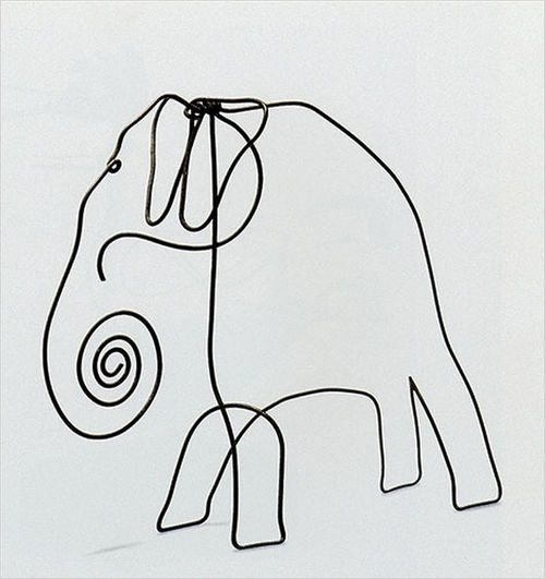 "jada111:  ""Wire elephant"", 1928 Alexander Calder 