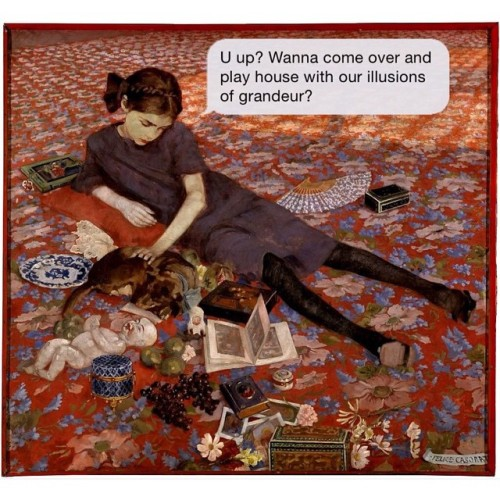 textsfromyourexistentialist:Ask your doctor if my fantasy is right for you w/ #FeliceCasorati. Ye heya.