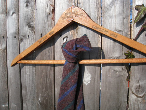 Vintage Glendale Tweed Wool Knit Tie
