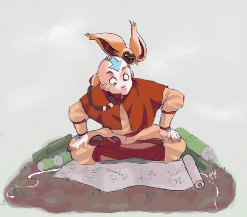 sketchbender:  (via study hard aang by *pyawakit on deviantART)