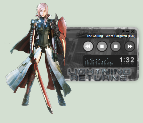 "Lightning Returns: Final Fantasy XIII WinAmp Skin by ~seraphimax  Used AZN Team's ""K-ON! - Kotobuki Tsumugi"" WinAmp design for this one. This skin features Claire Farron, better known as Lightning from the Japanese Role Playing Game Final Fantasy XIII as well as the Final Fantasy Dissidia titles. Download? Click Here! Intructions: 1. Extract using winrar or 7zip 2. Run ffxiii lightning.wal 3. Click on Yes to install WinAmp skin 4. Enjoy! View more of my Modern WinAmp Skins here More of my Final Fantasy Customizations here."