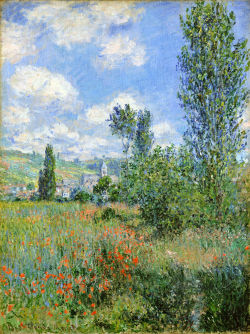 my-water-lilies:   Lane in the Poppy Fields, Ile Saint-Martin; Claude Monet.