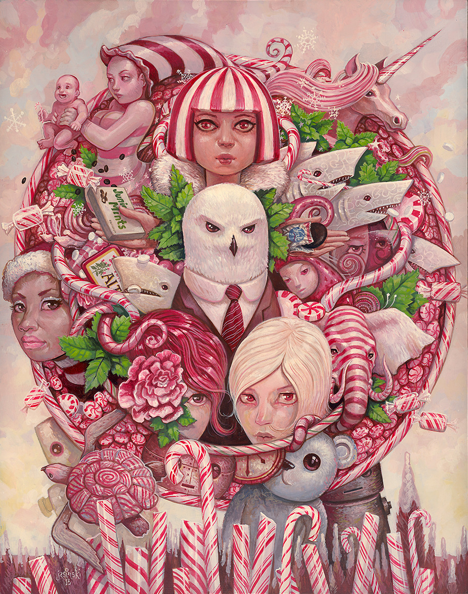 """Peppermint"" painted for eyeCandy at WWA Gallery Opening: Saturday, March 30th  7-10pmMarch 30th - April 27thfeaturingRobert Bowen  Charlie Immer  Aaron Jasinki  Jason JohnKen Keirns  Gabe Larson  Edith Lebeau  Audrey PongraczArabella Proffer  Brandi Read  Gustavo Rimada"