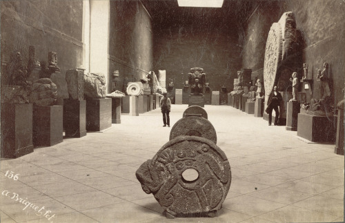 absurdonio:  Archaeological Museum, Mexico City (ca. 1885-ca. 1895). Photographer: Abel Briquet (by Cornell University Library)