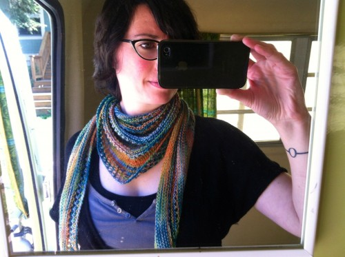 Pics of the shawl I finished a couple weeks ago. Plus news of upcoming TEACHING. That never happens!View Post