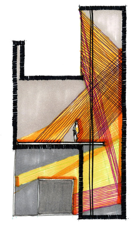 drawingarchitecture:  section by ~wabisabimade  esto va para mi practico e.e