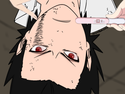 artiace:  Made one xP I don't know why Sasuke had to stand upside down for this thoughlol xD