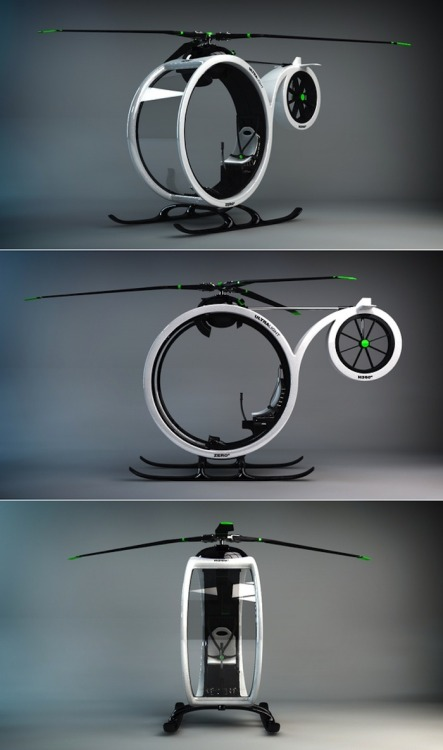 gregmelander:  ZEROº Playful shapes in this Helicopter concept by Héctor del Amo
