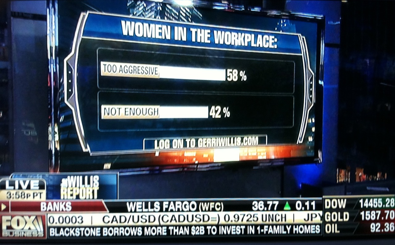 "According to FOX Business no women are ""just right."""