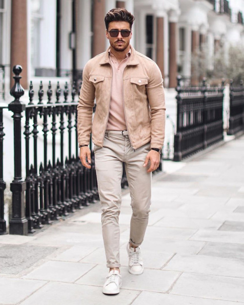 Follow fashionvanity for more style inspiration. #men#style#fashion#menstyle#mensfashion#menswear#mensclothing#street style#streetwear#street#male model#outfit#ootd#look#casual#dapper#blogger#stylish#lifestyle#style blog#street fashion#mens fashion#mens style #mens street style #jackets#suede#polo#pants#shoes#sneakers