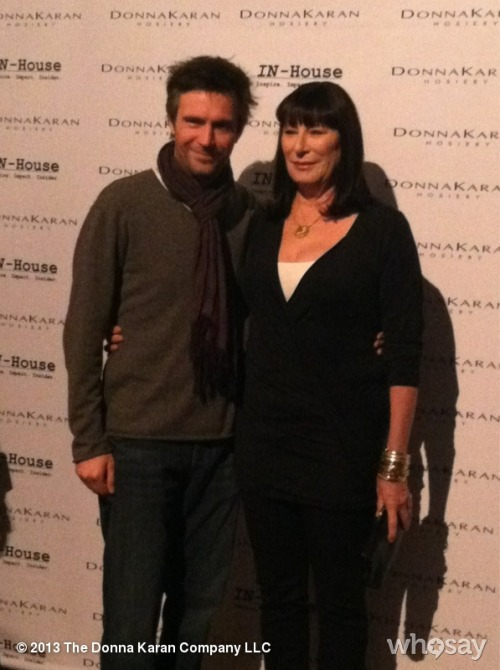 #AnjelicaHuston and #JackDavenport usually together for #Smash, but today together for us! #DKLegsView more DKNY PR GIRL on WhoSay