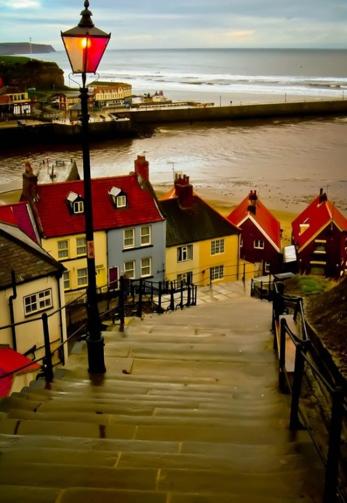 bluepueblo:  The 199 Steps, Whitby, England photo via elizabeth
