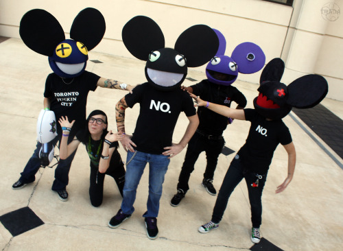 Photo by tradanui DEADMAU5/EDM COSPLAY PHOTOSHOOT AND MEETUP: ANIME EXPO 2013   WHEN: JULY 6TH, 2013 (TIME TO BE DETERMINED) WHERE: ANIME EXPO 2013 (EXACT PLACE TO BE DETERMINED) WHAT: Anyone cosplaying Deadmau5, Skrillex, Daft Punk, Feed Me, or any EDM artist to meet up, chill, and get group photos! Please contact me, hybridblood, if you're interested, and I've set up a facebook event page so that you can sign up and we can all keep in contact and up to date. ALSO STILL LOOKING FOR A PHOTOGRAPHER I hope to see some of you guys there!!
