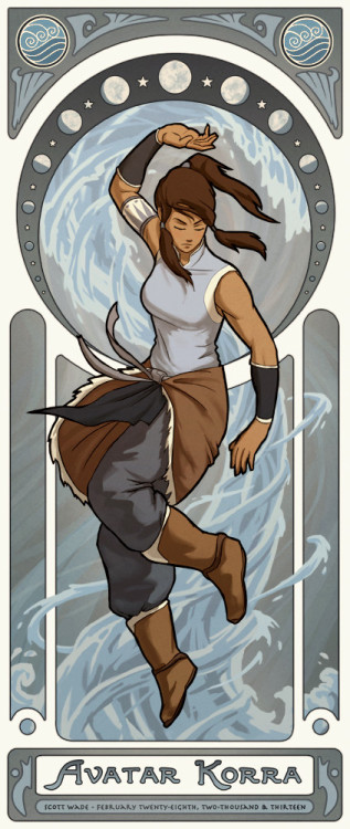 swade-art:  Avatar Korra.  The first in a series.
