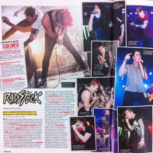 Pick up @kerrangmag today to see the massive #radstock2013 review!
