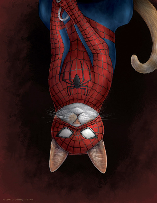 xombiedirge:  Comic Book Cats by Jenny Parks / Tumblr / Store  This is Tumblr gold.