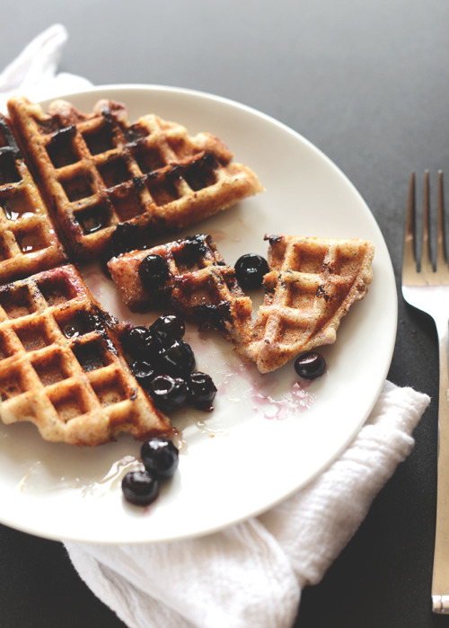 thepathtomoderation:  Lemon Blueberry Waffles
