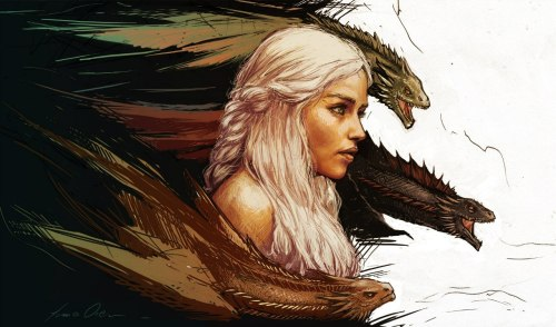 Mother of Dragons - Illustration by YamaO.Source: http://yamao.deviantart.com/